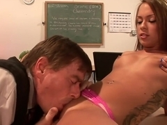 Fabulous pornstar in amazing cunnilingus, old and young sex clip