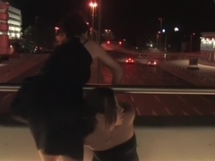 Beautiful Czech girl exposed on the streets at night!!!
