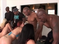 Horny pornstars Brooklyn Chase, Maddy O'Reilly and Phoenix Marie in best group sex, dp sex clip