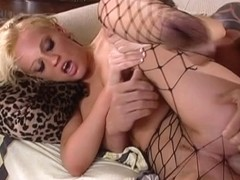 Cute babe with blonde hair team-fucked