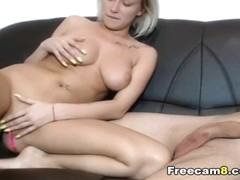 Awesome Blonde Babe Blowjob her Boyfriend