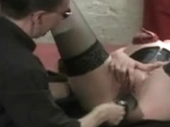 Huge dildos and double fist fucking with tightly fastened bazookas