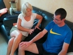 Mature blonde has anal sex with a horny man