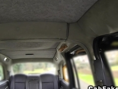 Busty American anal banged in London cab