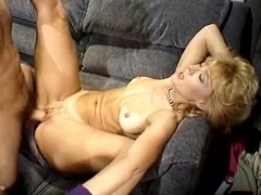 Nina Hartley, Mike Horner in sassy blonde is fucked in a retro xxx video