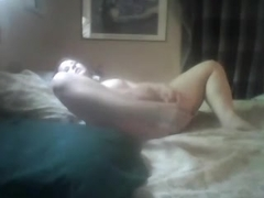 excited beauty doing a hot masturbation clip for her bf