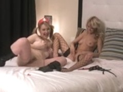 Brit chicks Katie K and Theo fuck for camera