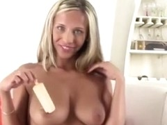 Licking that cock like a popsicle