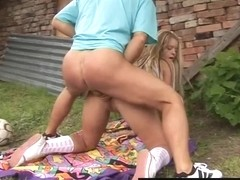 Teen Suzy gets fucked and facialized by neighbor