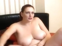 Massive titted lady can't live without the camera