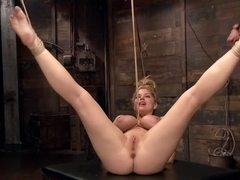 Huge Tit Blonde Bondage Slut Destroyed With Overwhelming Orgasms