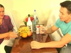 Russian mature stepmom and stepson! Amateur!