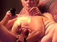granny is engulfing grandpas pecker untill this chab shoot out his goo in her face hole