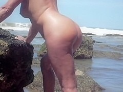 Married pair fuck by the beach