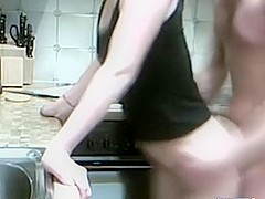 Skinny Asian In Kitchen