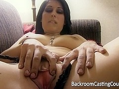 Gal moans with my dick in her bum