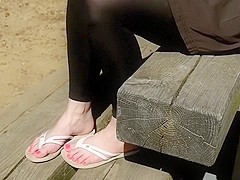 Playful feet in the park part 2