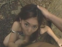 Amateur girl Pretty Asian girl is fucked in the park by her boyfriend