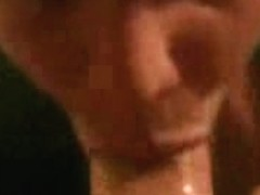 Sloppy mouthjob performed by my wife in the amateur porn
