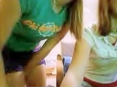 two legal age teenager gals playing on cam