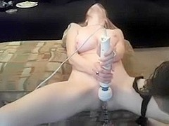 wife uses vibe on herself during the time that hubby helps to large O