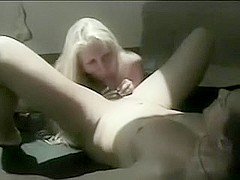 Excited blonde slut gives a head and bounces on a ding-pecker