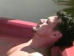 Cute Teen Cheerleader Gets Wet and Wild in a Hot Tub
