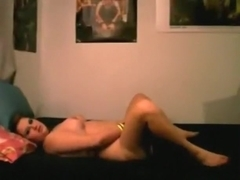 Chubby girl has oral, missionary and cowgirl sex with her bf.