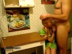 Daddy and girl roleplay fantasy. having sex on the kitchen table !!!