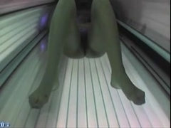 Hot slut nude in solarium