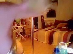 Hot bunny dances before her webcam