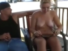 Front porch fuck and suck