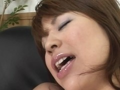 Hot busty big tit milf with white panties inserting toys in hot pussy