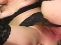 Interracial anal pounding of a taut dark brown