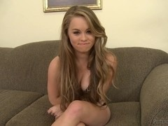 Petite blonde teen gives a great blowjob