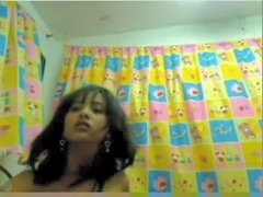 Fertile Lalin Girl with oversized milk shakes on web camera