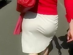 I followed this redhead mother i'd like to fuck in public to film her big gazoo