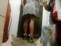 Whene tryng on heels we the one and the other get sexually horny,but need to b a quiky.