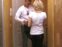Cute petite college girl brings him home for a quickie !