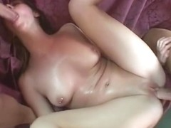 Babe bangs an mature lad & his ally