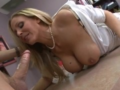 Julia Ann is an office slut with snobbish smile