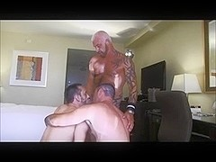 Massive and hot hunks fucking in a hotel room