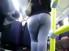 I spied on unbelievable sexy black brown woman in the bus