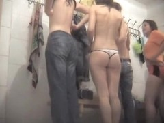 Charming naked student were taped on the hidden camera