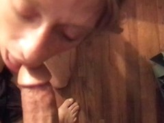 Freckled Blonde Has Her Mouth Fucked