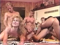 Alicia Monet, Amber Lynn, Brandy Alexandre in vintage sex scene