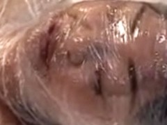 Japan Cutie Wrapped in Plastic and masturbation, Vacuum Play