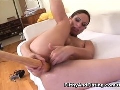 Amber Rayne in Amber Rayne Self-Fisting Her Tiny Asshole - FilthyAndFisting