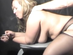 Foxy Lucy Bell goddess got nylon nylons covered boobs