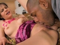 Amanda tries out her first big black cock
